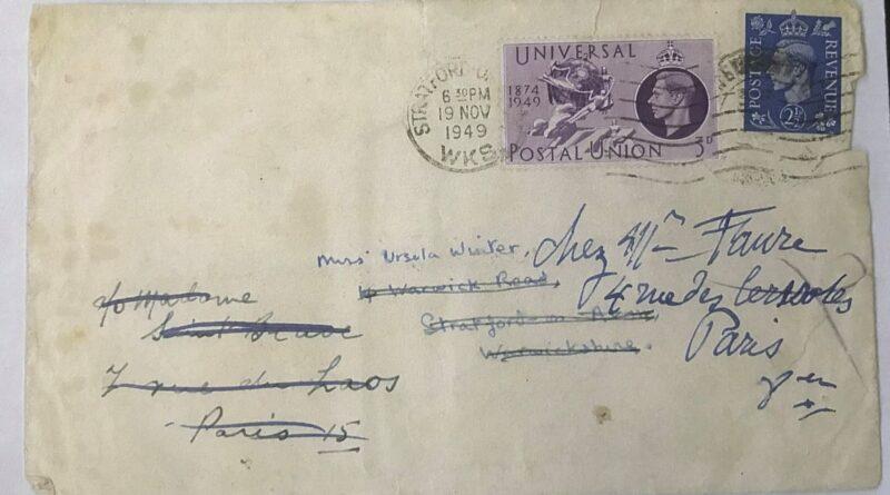 Carta inédita de Dylan Thomas a Coralie Winter